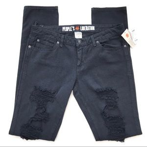 People's Liberation Skinny Ripped Jeans